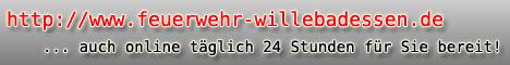 Werbebanner Freiwillige Feuerwehr Stadt Willebadessen